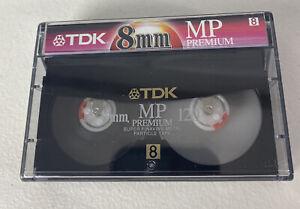 TDK Premium 8mm Camcorder Film Cassette Tape MP 120 Minutes NEW