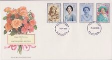UNADDRESSED GB ROYAL MAIL FDC 1990 QUEEN MOTHER STAMP SET PLYMOUTH PMK