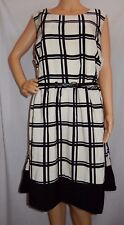 """ED.IT.ED"" - BNWT - Plus Size 22 - ""BLACK & WHITE"" Flared Belted A - Line Dress"