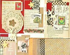 Christmas Scrapbook Kit, Christmas Junk Journal , Xmas Card Supplies, 60+ Pieces