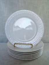 Living Quarters Basket Weave White Salad Plates 7 French Weave