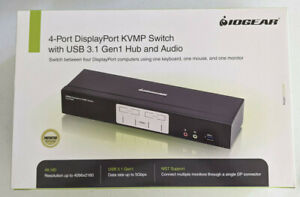 IOGear GCS1934 4k/60Hz Displayport 4 port KVM/KVMP with audio