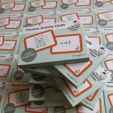 Phonics Activity Game Flash Cards Cursive Font?Home Education Schooling