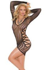 Full Figure BBW Long Sleeve Crochet Mini Dress Lingerie- Fits size 14-18