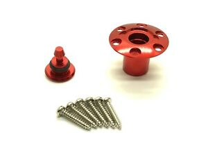 1 Set Red Aluminum Fuel Dot Cap For RC Airplane & Boat (US Good Seller/Shipping)