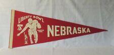 old University of Nebraska Huskers Football Liberty Bowl Pennant