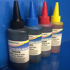 4 PRINTER REFILL INK BOTTLES FITS EPSON WORKFORCE WF-7015 WF-7515 WF-7525 WF7525