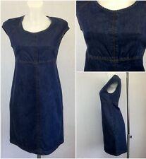 Zara Ladies Blue Denim 60s Retro A-line Casual Tunic Dress S UK Size 6-8