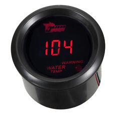 "2"" 52mm Black Car Motor Digital Red LED Water Temp Fahrenheit F LED Gauge Meter"