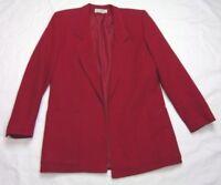 Saks Fifth Ave Womens Blazer Jacket Size 4 Pink 100% Wool 1 Button Vintage