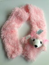 Girls Pale Pink Poodle Dog Soft Fluffy Fashion Scarf Ideal Birthday Present Gift