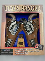 Texas Ranger Double Holster Set With Two Texas Ranger Repeater Pistols