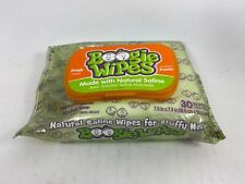 Baby Boogie Wipes - Gentle Saline Wipes for stuffy noses, 30 wipes - Fresh Scent