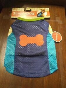 New With Tags Simply Dog Blue (Dog Bone) Jersey Size XS