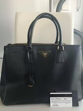authentic PRADA Saffiano lux shopping tote double zip, classic collection