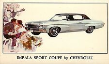Advertising Postcard 1970 Impala Sport Coupe Chevrolet Artist Impression Unpostd