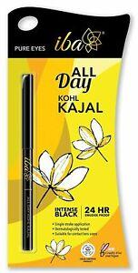 Iba All Day Kohl Kajal, Jet Black, 0.35g l Smudge Proof l Waterproof l 24 hr Lon