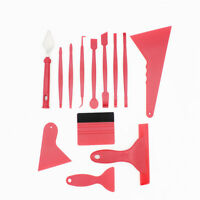 13Pcs Car Window Paper Film Stickers Cutting Squeegee Tool Kit Auto Accessories