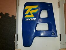 suzuki ts125r ts200r tsr left radiator cover panel