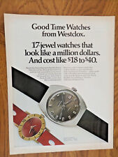 1970 Westclox Watches Ad 17 Jewel Watches that look like a Million