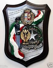 Crest POLIZIA di Stato TRICOLORE in Peltro + SMALTI (16 x 23 cm) logo PS