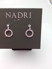 $40 Nadri Hallo Silver  Tone Ring Drop Earrings. #109