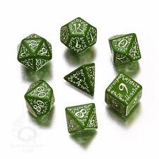 Q-Workshop: Elvish Dice Set Green/White (7)