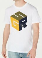 G-Star Raw Mens T-Shirts White Size Large L Cube Logo Graphic Tee $50- 212
