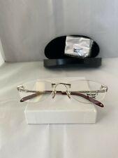 MONT BLANC MB 377 016 Silver Rimless Brille Eyeglasses Glasses Frames Size 56