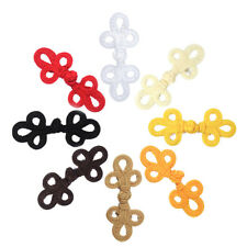 5 Pair Handmade Chinese Knot Buttons Frog Closure Fasteners Sewing Wedding Decor