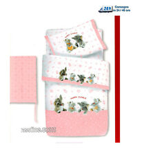Trapunta invernale Paracolpi Lettino Baby Neonato Rosa Happy Jungle Trudi Gabel
