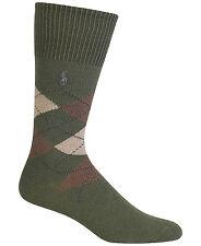 Polo Ralph Lauren Men's Cotton Argyle Crew Socks Size 6-12.50  Green