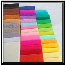 Felt Craft Fabric Sheets 20 pieces Pack Assorted Colour sewing UK seller 10x15cm