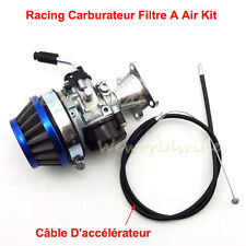 Racing Carburateur Filtre a Air Throttle Cable Pour 47 49cc Mini Pocket Bike ATV