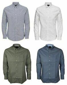 New Mens Smart Formal Casual Long Sleeve Shirts Black Blue Dress Shirt M to 6XL