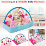 4 In 1 Gym Baby Play Mat Fitness Crawling Carpet Play mat Fun Toy Kid Bouncer UK