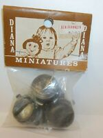 Diana Miniatures - Cast Metal Cooking Pots & Pans - Sealed Package