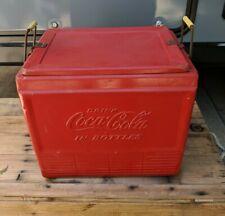 Vintage Coca Cola Metal Cooler Progress Refrigerator Company Louisville,KY