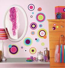 RoomMates Wandsticker Wandbild verrückte bunte Punkte 31 Stück Wandtattoo NEU