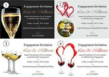 Personalised Engagement Invitations Cards - 50 double sided invites with env
