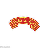 MARINE CORPS MCAS EL TORO  MILITARY EMBROIDERED USMC RED SHOULDER ROCKER PATCH