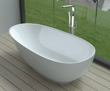 Free Standing Solid Surface Stone Resin Glossy Bathtub 63 x 32 inch - SW-132