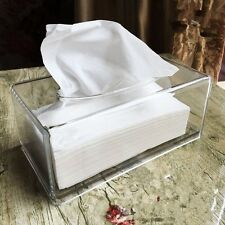 New Tissue Box Acrylic Clear Paper Organizer Holder Home Auto Storage Cover Case