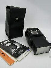 Canon Speedlite 199A Flash w/ Manual, Case, & Diffuser  Made in Japan