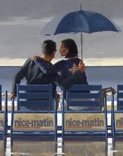 Jack Vettriano Tarjeta de felicitación-Azul Azul