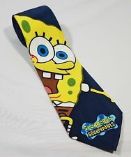 "Spongebob Square Pants Necktie 58"" Blue Tie With Yellow Spongebob Novelty Tie"