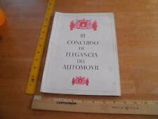 1966 Mexico Concurso de elegancia car sponsor program automovil auto