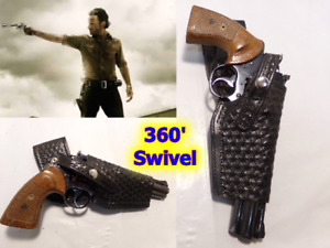 "Rick Grimes WALKING DEAD Style Leather Gun Holster for COLT Python 6"" & Similar"