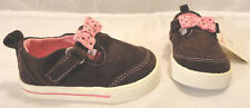 Garanimals Infant/Toddler Girls Casual Brown Cord Shoes, Choose Size 3,4,5,6,