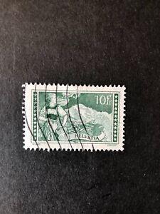 Switzerland 1914 10F Green Mountain Views used Sg 337